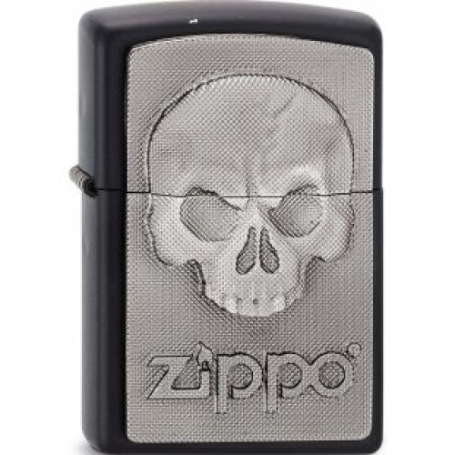 Matte Black Phantom Skull Zippo Lighter - Emblem Windproof Pocket Brand New -  phantom skull lighter emblem windproof pocket black matte brand new