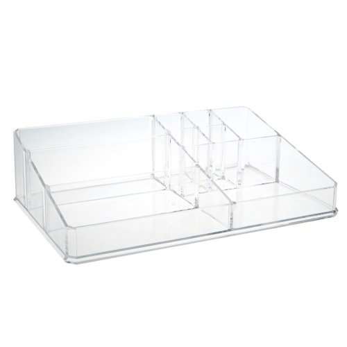 9 Compartment Cosmetics Organiser, Clear