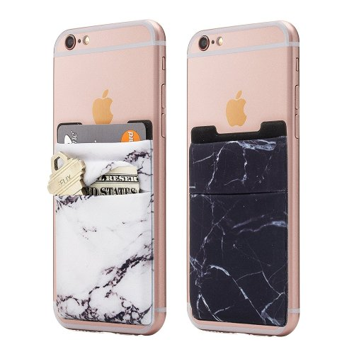 Cell Phone Card Holder >> Newseego 2 Pack Of Cell Phone Card Wallet Double Pouch Stick On