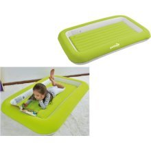 Parkland Green Flocked Kids Children Safety Inflatable Air Bed Mattress Camping Guests