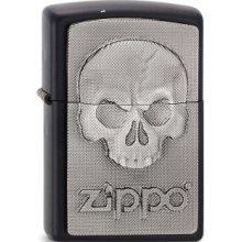 Matte Black Phantom Skull Zippo Lighter - Emblem Windproof Pocket Brand New -  phantom skull lighter emblem windproof pocket black matte brand new