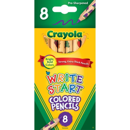 Crayola Write Start Colored Pencils-8/Pkg Long