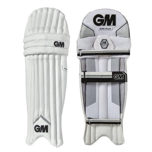 Gunn & Moore 2018 Icon Plus Adult Kids Cricket Batting Leg Pads White/Silver