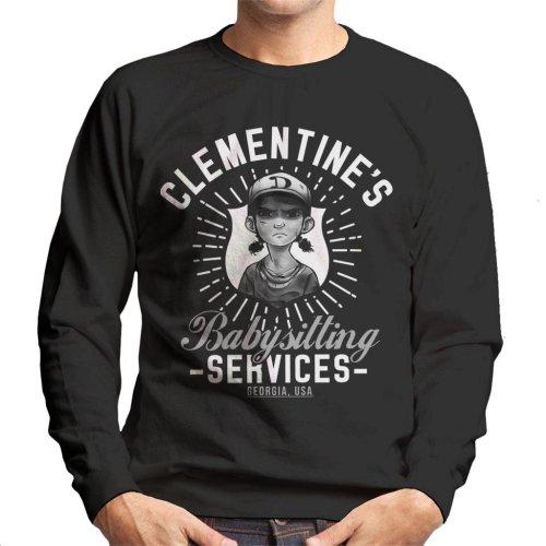 Clementines Babysitting Services Walking Dead Men's Sweatshirt