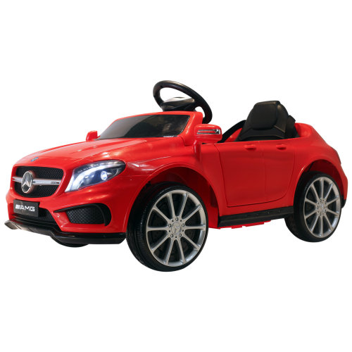 HOMCOM Mercedes Benz Licensed Kids Children Ride On Car 6V Battery Rechargeable Headlight Music Remote Control  High/Low Speed Toy Red