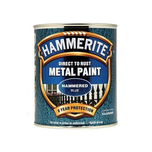 Hammerite HFB750 Direct to Rust Hammered Finish Metal Paint Blue 750ml