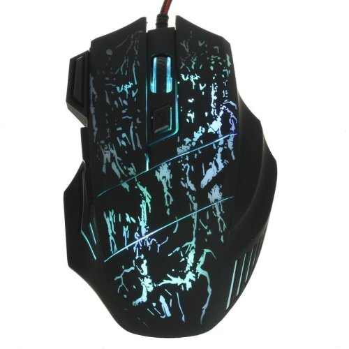5500 DPI 7 Button LED Optical USB Wired Gaming Mouse Smart Mice Game