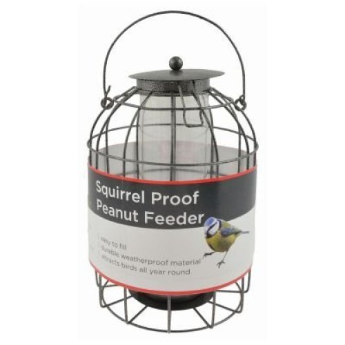 Bird Peanut Feeder Squirrel Proof Wild Bird Care Feed Garden Hanging