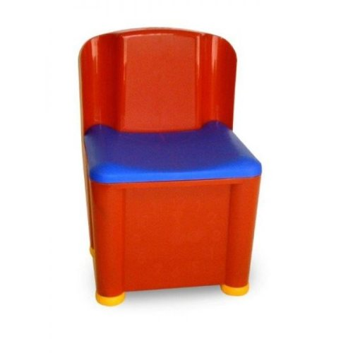 Kids Storage Activity Play Chair Red And Blue