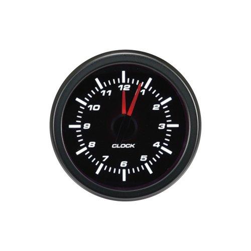 AutoStyle AGTCK-12 Performance Instrument Analog Clock, Black, 52 mm