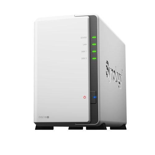 Synology DS218j 4TB 2 x 2TB SGT-IW 2 Bay Desktop NAS Unit DS218J/4TB-IW