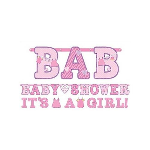 Amscan 121489 Girl Baby Shower Banners Pack Of 12 On Onbuy