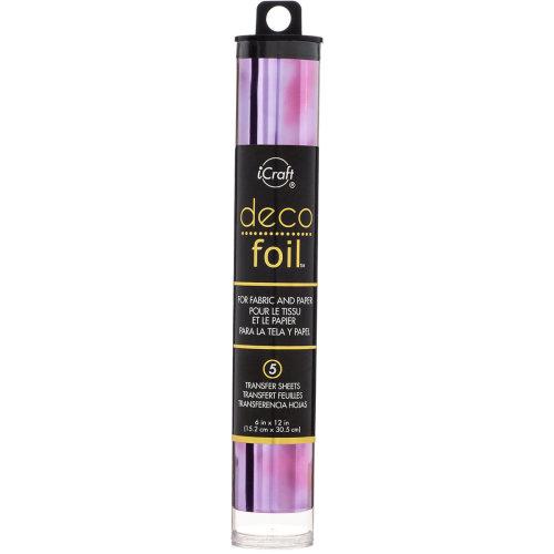 "Deco Foil Specialty Transfer Sheets 6""X12"" 5/Pkg-Amethyst Watercolor"