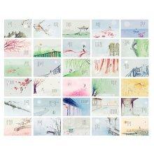 30PCS 1 Set Creative Postcards Artistic Beautiful Postcards, First Meeting
