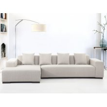 Contemporary Sectional Sofa in Fabric - LUNGO