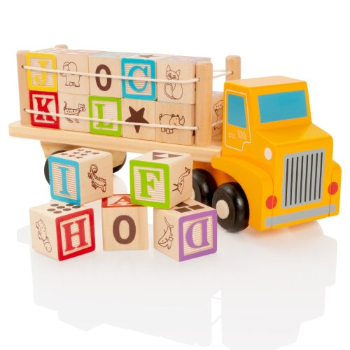 Milly & Ted Wooden Alphabet Blocks Truck