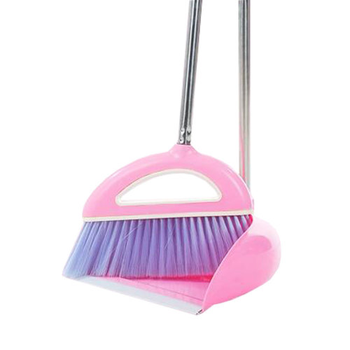 Durable Removable Broom and Dustpan Standing Upright Grips Sweep Set with Long Handle, #A1