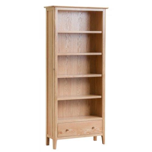 Bergen Oak Furniture Large Bookcase