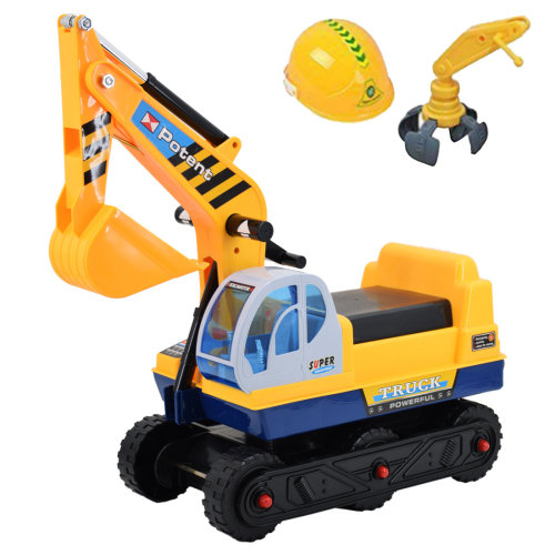 deAO Toys Adjustable Ride-On Excavator |  2-in-1 Kids' Ride-On Digger