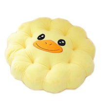 Cute Plush Seat Cushions Extra Soft Back Chair Pad  for Kitchen Office Car?Yellow Duck