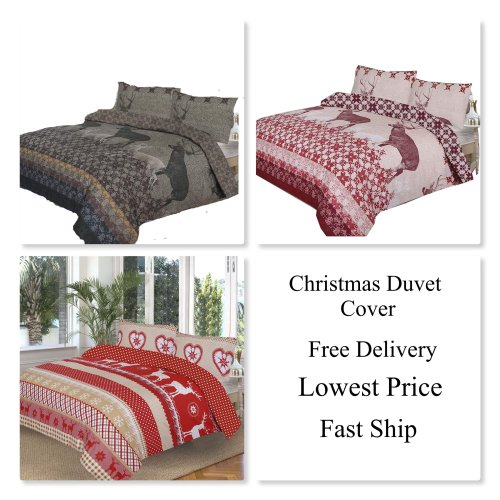 Christmas/Festival Special  Polycotton Duvet Quilt Cover with Pillow Cases