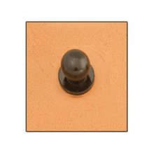 Small Screw Back Button Stud - Button Stud 8mm Screwback Black Leathercraft Accent Tandy Leather 11310-17