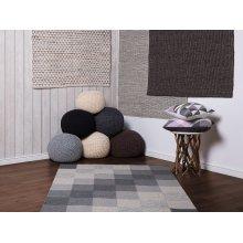 Rug - Carpet - Cotton - Jute - Polyester - Handmade - Beige - TUNCELI