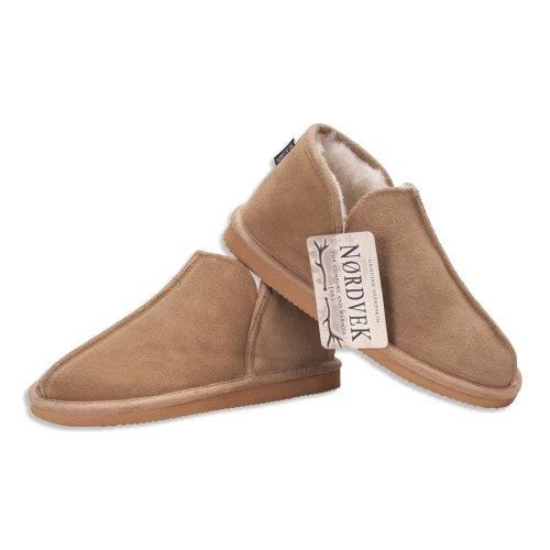 Nordvek Sheepskin Slippers Women - Soft Wool Blend Booties - Hard Non Slip Sole # 447-100