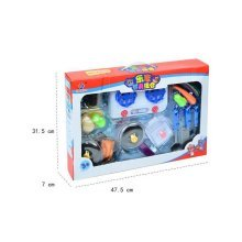 Cooking Play Set for Kids with Music and Light Kitchen Kit