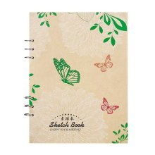 110g Sketch Paper Loose Binder Paper Drawing Paper Blank 21.5x29.3cm Art Paper,C