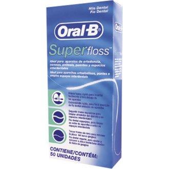 6 X Oral -B Super Floss 50 PRE-CUT STRANDS, Dental Floss