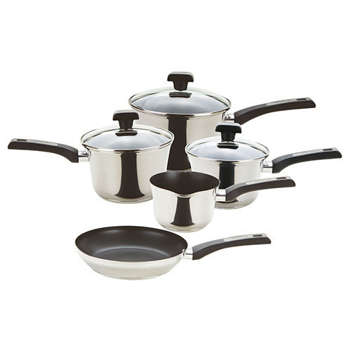 Prestige Durasteel Stainless Steel Cookware, Silver, Set of 5