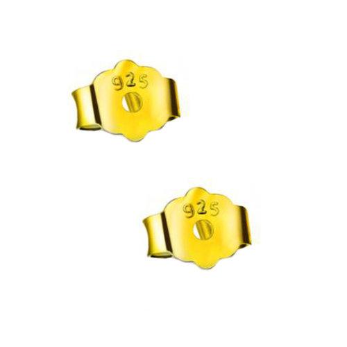 Earring Backs Earring Locking  Backs 2 Pieces Golden Color
