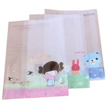 10 PCS Clear Plastic Cartoon Prints Book Cover(26.5*19CM) For Office Or School