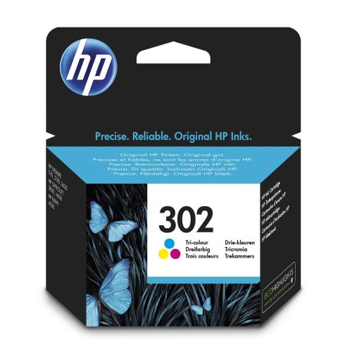 HP 302 Ink Cartridge Tri-colour F6U65AE - 4ml | Colour Ink Cartridge