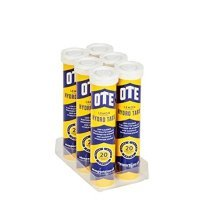 Ote Hydro Tabs 20 X 4g (6 Tubes): Blackcurrant - Tab Cycling Training Exercise -  ote hydro tab cycling training exercise hydration tablets single