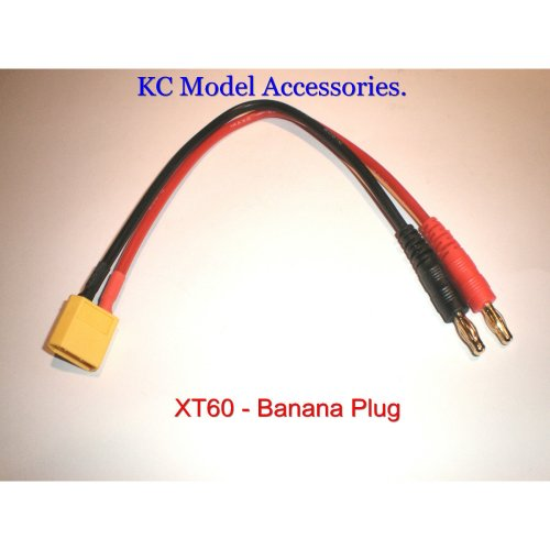XT60 to Banana Plug 4mm Battery Charger Cable 14awg
