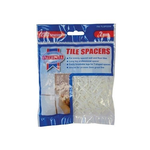 Faithfull FAITLSP2250 Tile Spacer Long Leg 2mm Bag of 250