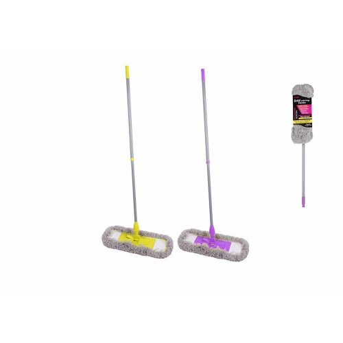 Long Pile Microfiber Flat Mop With Extendable Handle