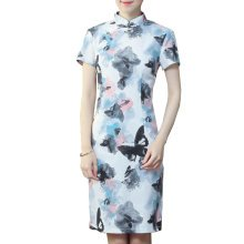 Elegant Chinese Dress Qipao Dresses Cheongsam Women Clothing Skirt XXL-15