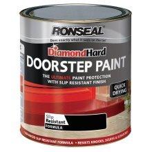 Ronseal Diamond Hard Doorstep Paint 750ml - Black