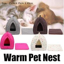 40CM Detachable Pet Puppy Bed Dog Cat Kennel Warm Mat