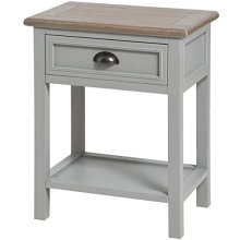 Churchill Collection One Drawer Bedside - Hurchill -  hurchill collection one drawer bedside