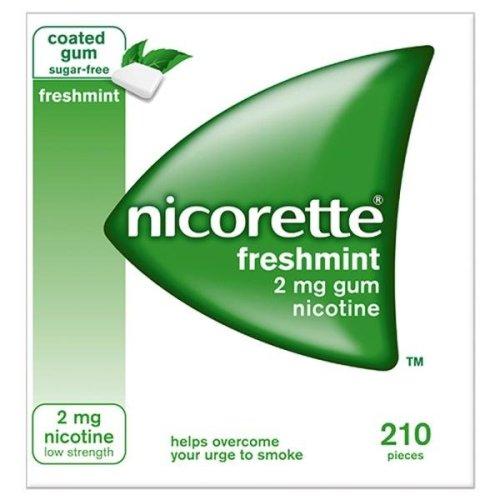 Nicorette Freshmint 2mg Gum 210 Pieces