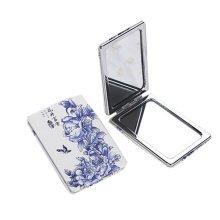 One Portable Princess Mirror Vanity Mirror Little Makeup Mirror 8x6x1CM (Blue Flower)
