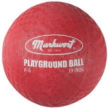 Markwort Playground Ball, Red, 6-Inch
