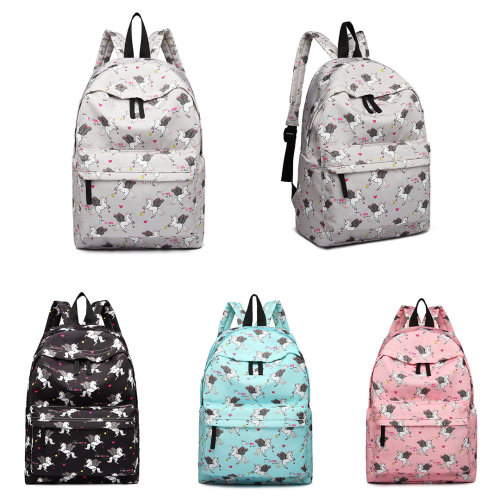 1bfd06de63 Miss Lulu Boys Girls Unicorn Print Canvas Backpack School Bag on OnBuy