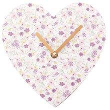Florella Heart Shaped Wall Clock