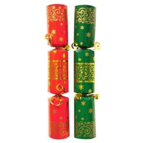 Christmas Cracker Red & Green - Box of 50 Bulk Pack Catering Christmas Crackers