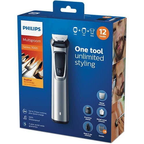 Philips Multigroom Series 7000 12-in-1 Face, Hair, and Body
